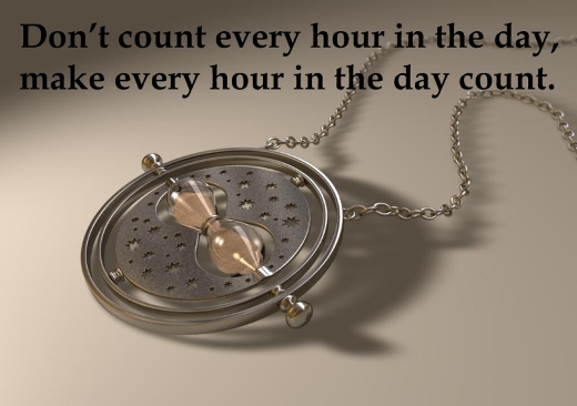 Don't count every hour in the day, make every hour in the day count.