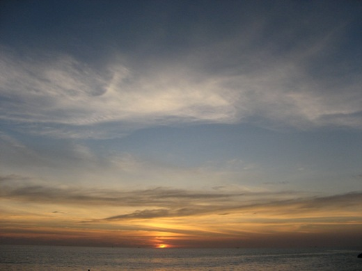 Sunset on Kata Noi Beach