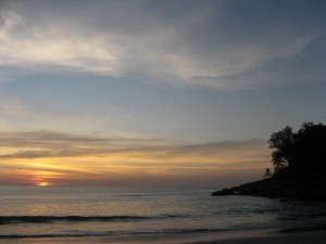 Sunset on Kata Noi Beach (Phuket, Thailand)