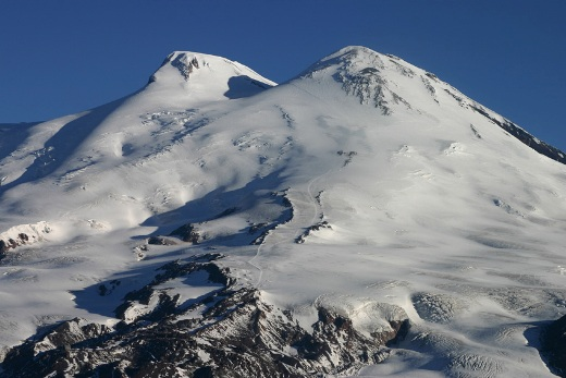 Mt Elbrus from Barrels