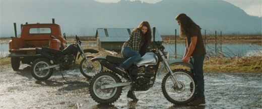 Bella Swan and Jacob Black with bikes