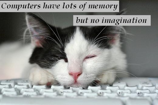 Computers have lots of memory but no imagination.
