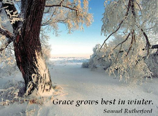 Grace grows best in winter. (Samuel Rutherford)