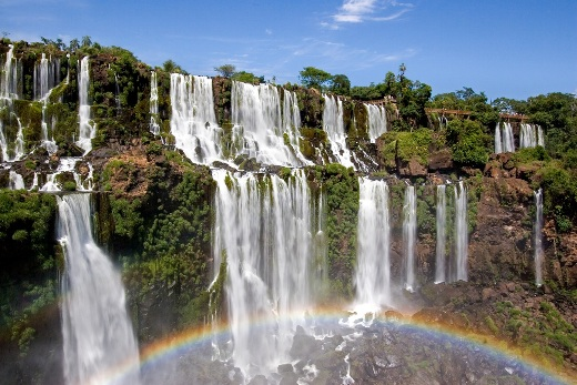 Iguazu Falls is the world widest waterfall