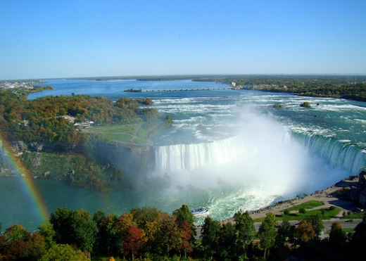 The Canada Horseshoe Falls, in Niagara Falls