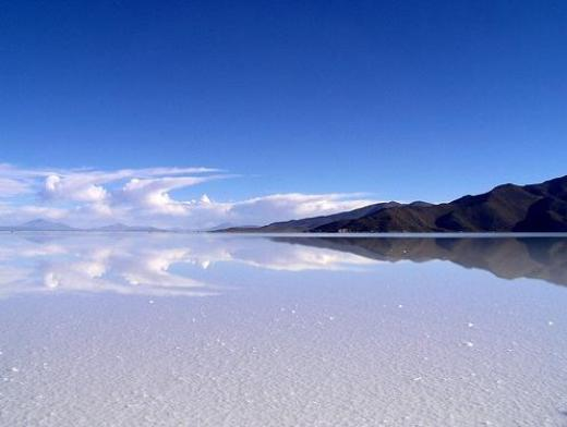 The Salar de Uyuni is the world's largest salt desert