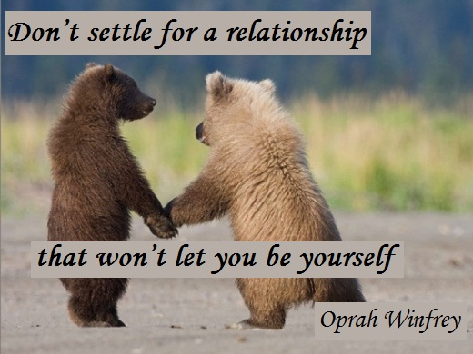 Don't settle for a relationship that won't let you be yourself. (Oprah Winfrey)