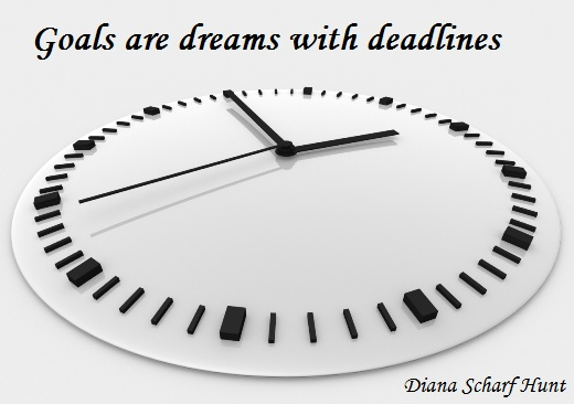 Goals are dreams with deadlines. (Diana Scharf Hunt)
