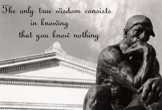 The only true wisdom consists in knowing that you know nothing