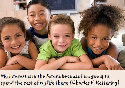 My interest is in the future because I am going to spend the rest of my life there (Charles F. Kettering)